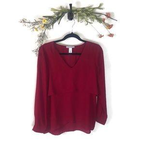 White House Black Market   Red Blouse Size 4 EUC